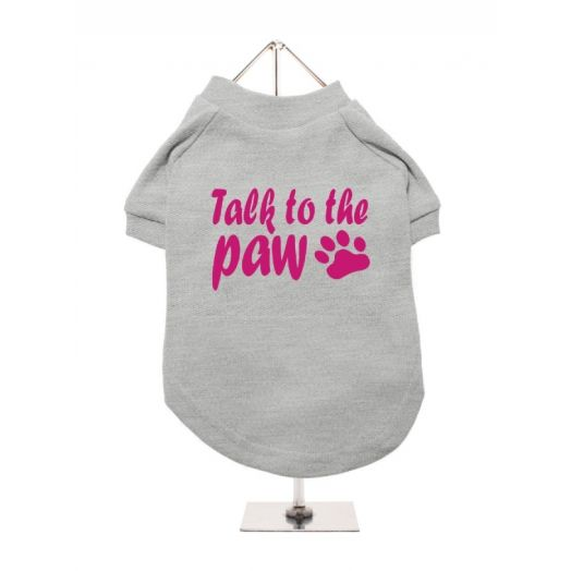 Urban Pup Grey Talk to the Paw Dog T-Shirt