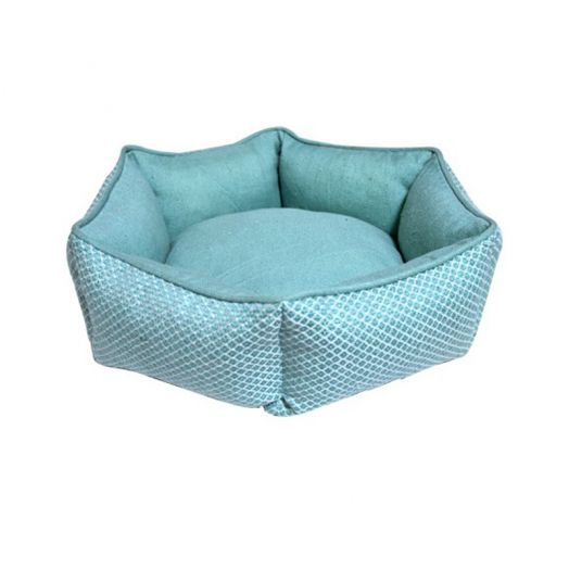 Resploot Hex Sofa Teal Snakeskin Bed 45cm